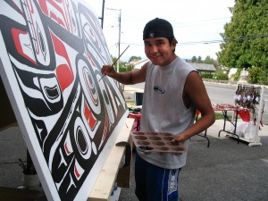Chemainus-Youth-Murals-painting